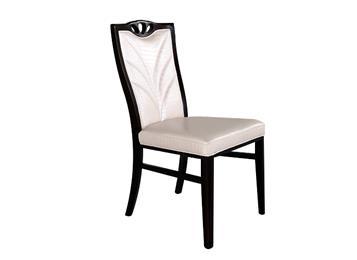 新中式实木餐椅 火锅店现代皮布艺餐椅