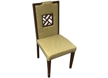 火锅店现代简约软包实木餐椅
