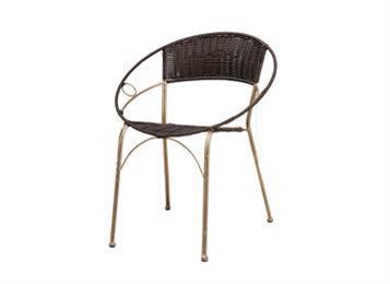 简约休闲铁艺藤椅子