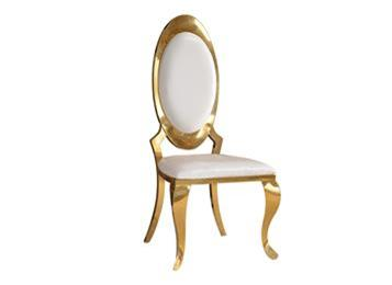 简约现代不锈钢餐椅 腊光亮皮餐椅