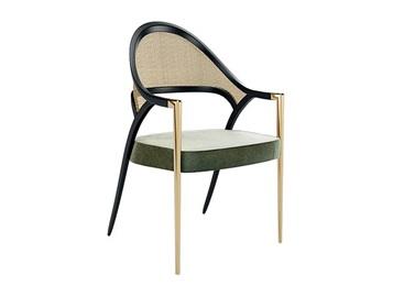 美式轻奢不锈钢扶手椅