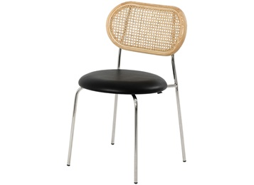 简约休闲不锈钢藤椅子