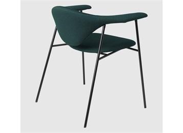 咖啡厅简约轻奢铁艺牛角椅