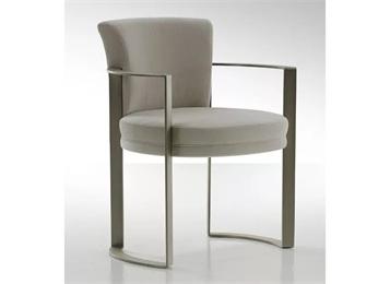 咖啡厅餐厅餐饮椅子_简约靠背铁艺扶手椅