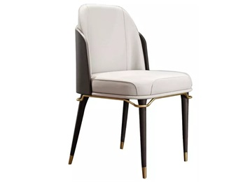 酒店包厢咖啡厅皮革软包轻奢餐椅