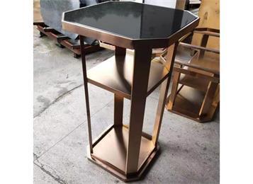 不锈钢高脚桌高台吧台桌圆形慢摇吧散台