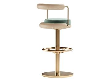 现代豪华酒吧镀金不锈钢吧椅