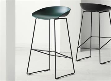 北欧现代简约高脚凳吧椅白色酒吧椅吧台椅铁艺
