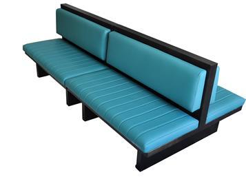 音乐清吧酒吧铁艺软包双面卡座沙发