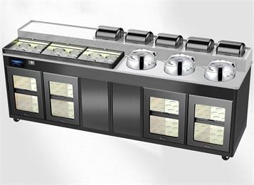 韩式烤肉店智能多功能调料台消毒柜冷藏酱料台