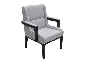 咖啡厅实木沙发椅现代单