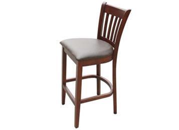 美式实木咖啡馆吧椅 收