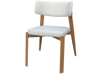 北欧田园橡木西餐厅餐椅_简约休闲咖啡厅椅子