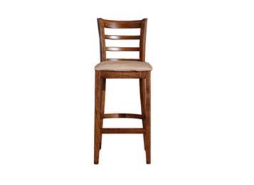 美式复古实木咖啡厅吧台椅
