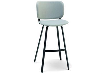 现代休闲铁艺高脚靠背椅咖啡厅家具