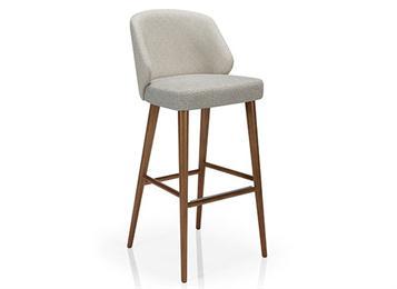 现代休闲中式实木吧椅咖啡厅家具