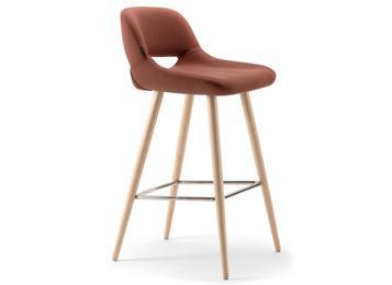 欧式简约实木咖啡馆吧台高脚椅