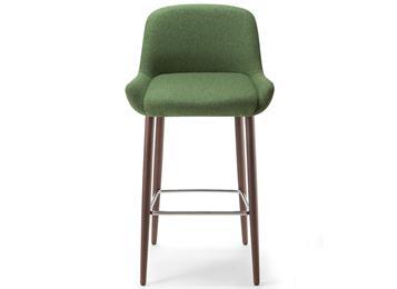 北欧风休闲铁艺实木咖啡厅高吧椅