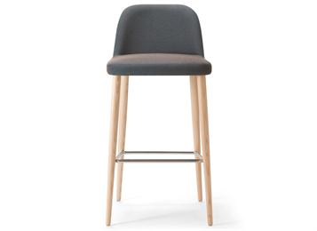 美式田园风咖啡厅实木休闲吧椅