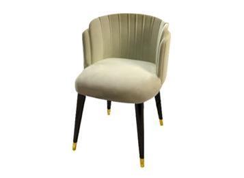 时尚创意绒布椅子 咖啡