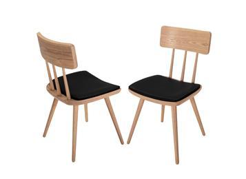 北欧实木椅子 现代简约咖啡厅靠背椅