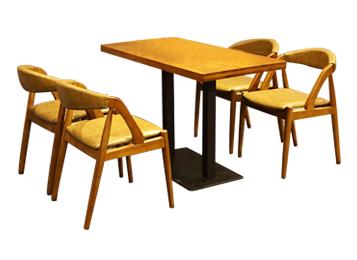 钱柜娱乐官方网站【首页】_现代简约实木咖啡桌 铁艺桌脚咖啡厅餐桌