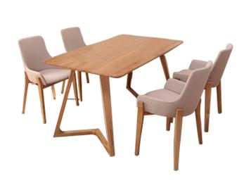 钱柜娱乐网站_现代简约休闲咖啡厅实木餐桌椅组合