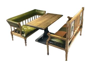 钱柜娱乐网站,钱柜娱乐官方网站_复古怀旧休闲咖啡厅实木桌沙发卡座组合