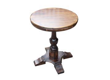 钱柜娱乐官方网站【首页】_美式乡村复古全实木咖啡厅圆形餐桌