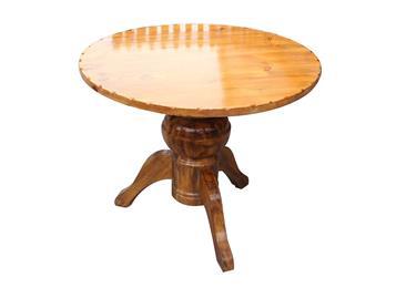 原木灯笼脚圆形咖啡店桌