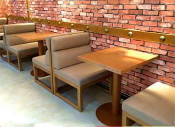 咖啡厅休闲实木桌椅_咖