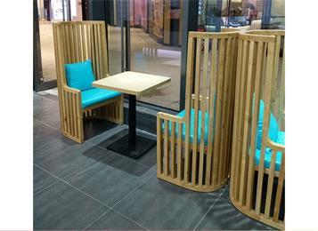 咖啡店时尚咖啡桌椅半圆