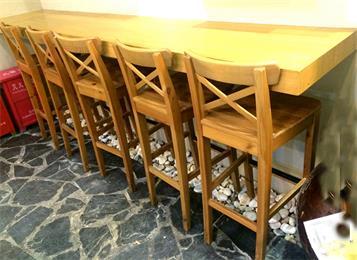 全实木吧台吧椅咖啡厅靠