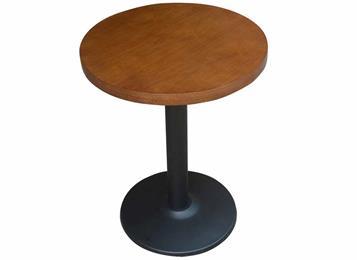 北欧简约咖啡厅休闲区接待洽谈实木小圆桌