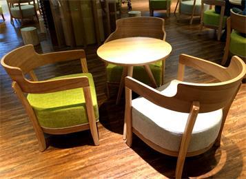 北欧咖啡厅馆桌椅组合_奶茶甜品店休闲洽谈接待