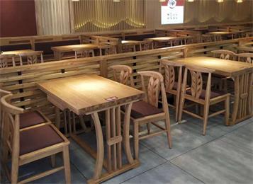 新款咖啡餐厅家具实木桌