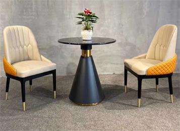 咖啡屋现代休闲风大理石咖啡桌