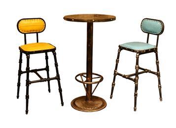 咖啡厅复古高脚椅吧台凳