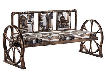 钱柜娱乐网站_工业风铁艺酒吧咖啡厅馆卡座沙发