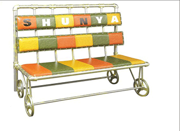 美式loft个性简约靠背沙发卡座