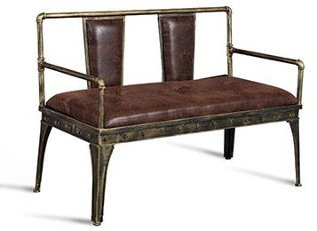 美式loft简约复古水管铁艺卡座沙发