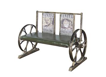 美式loft复古铁艺双人卡