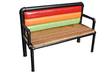 美式loft彩色软包靠背休闲卡座沙发