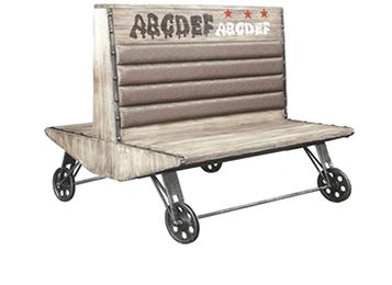 美式loft铁艺休闲实木双面沙发卡座