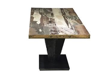 实木餐桌工业风桌子铸铁