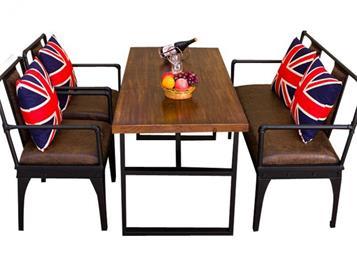 工业风格铁艺实木咖啡厅酒吧桌椅