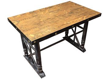 铁艺餐桌 实木方形餐桌
