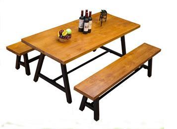 LOFT美式复古铁艺实木桌
