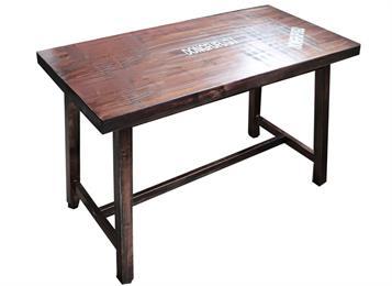 实木古铜色工业复古餐桌