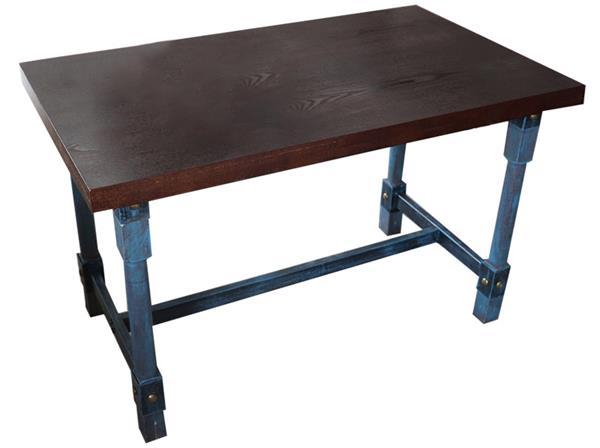 钱柜娱乐官方网站【首页】_工业仿古风五金铁柱桌脚个性餐桌_实木方形做旧